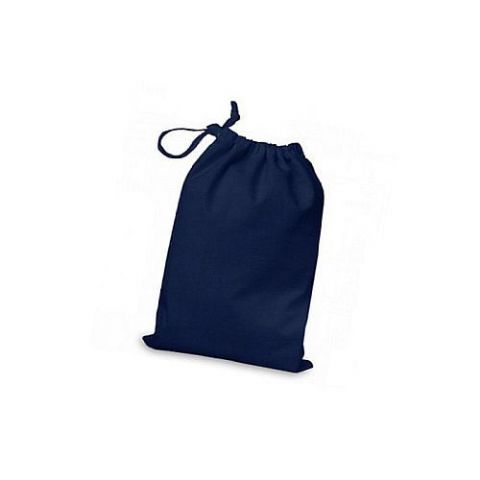 Boys Navy Blue Cotton Drawstring Football Boots & Trainer Bag